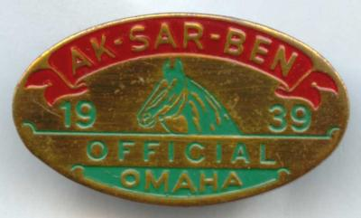 1939 Racing Official Pin Image