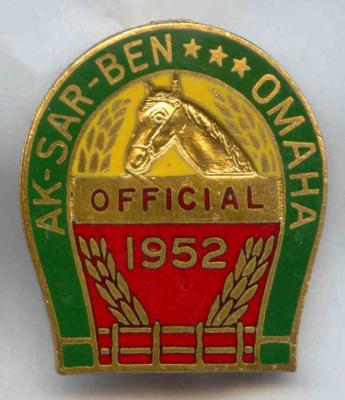 1952 Racing Official Pin Image